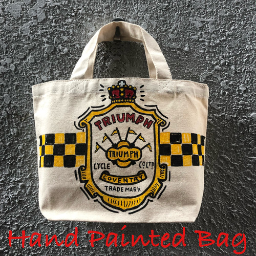 ランチバッグ 生成り(TRIUMPHロゴ×COVENTRY) Hand Painted Bag Black Smith ORIGINAL