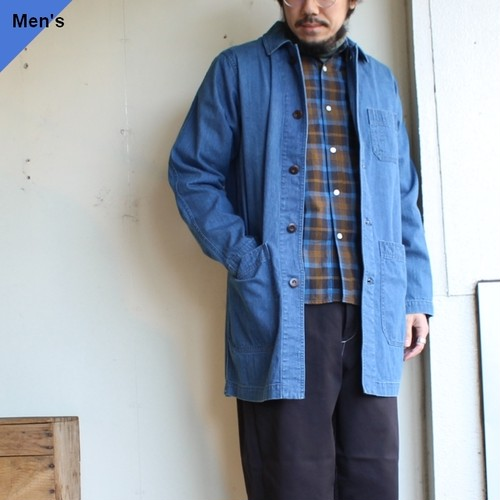 weac. デニムショップコート SHOPPING PAPA(BLEACH) 【Men's / Ledies'】