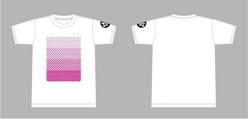 H-E-L-P・Tシャツ(ホワイト×ピンク)