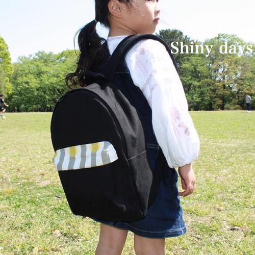 【受注製作】国産帆布のリュックサック/Mサイズ/ブラック/子供用/子供用リュック