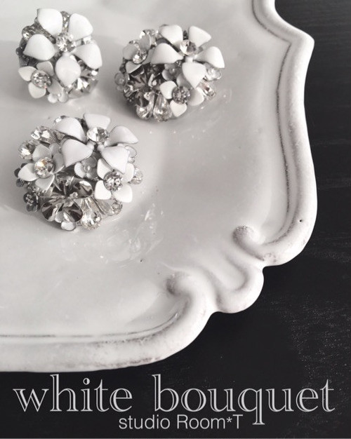 【brooch】whitebouquet