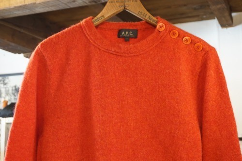00's A.P.C. red wool Sweater
