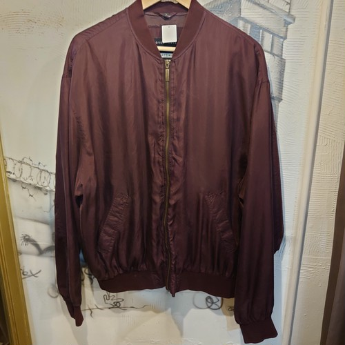 silk zip up jacket