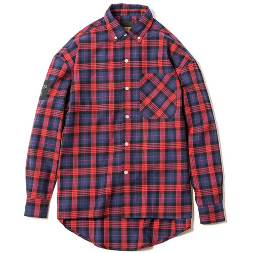 【Deviluse | デビルユース】 Check Shirts(Red)