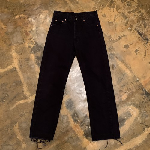 00s Levis 501 Black Denim pants /USA