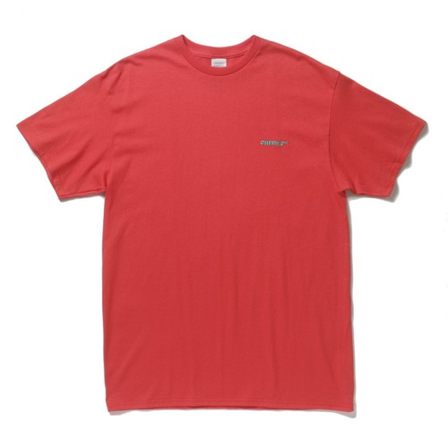 CHECKS Embroidered Logo T-shirt(Yam)