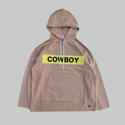 COWBOY Hooded L/S Tshirt -BEIGE-