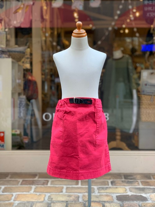 KIDS:GRAMiCci【グラミチ】KIDS MOUNTAIN SKIRT(RASPBERRY/140,150cm)ミニスカート