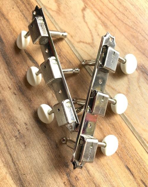 GOTOH(ゴトー)/119-04-001 クルーソンタイプ ギターペグ 3連 白丸プラノブ