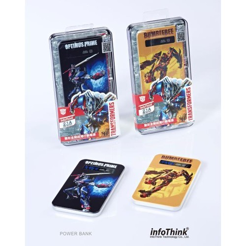 InfoThink モバイルバッテリー TRANSFORMERS トランスフォーマー/ロストエイジ 4200mAh バンブルビー Bumble Bee IT-TF4-4200 BUMBLEBEE