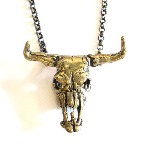 "Bandit Brand ""Cow Skull "" Necklace"