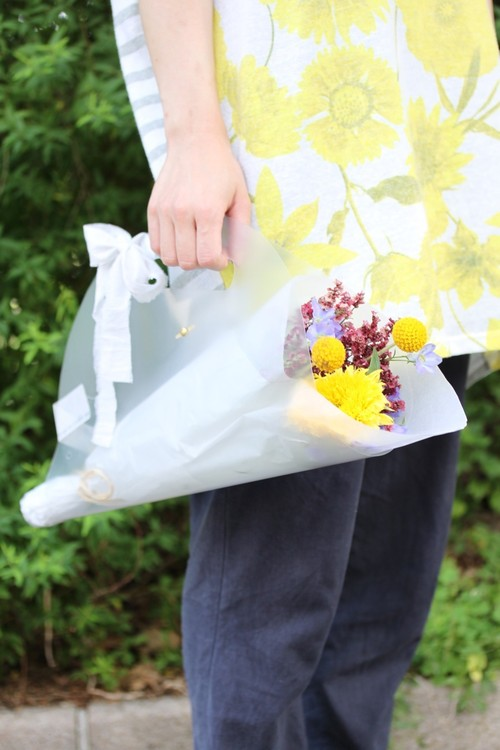 clear flower bag -フラワーバッグ-