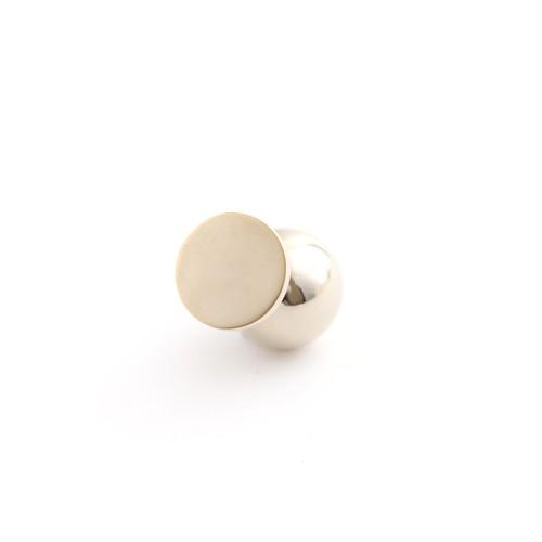 MAYU/PEARL RIVETS/Small Circle mat Gold 14mm Gold ba 片耳