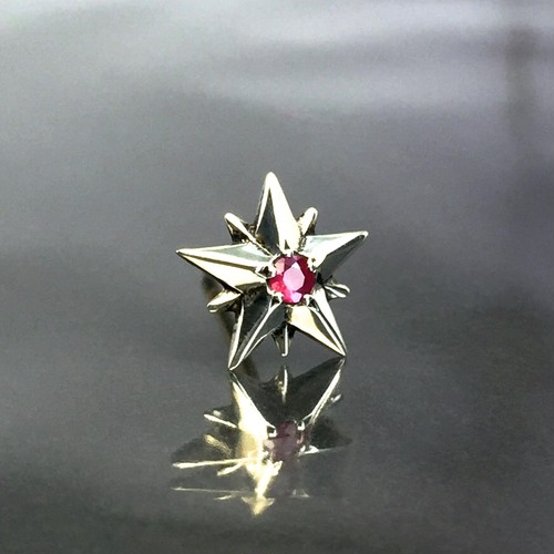 10P STAR STUD with RUBY / 10ピークス スターピアス・ルビー