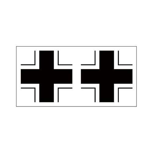 黒十字(2片) ステッカー