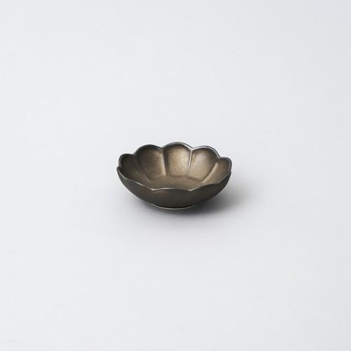 輪花小鉢 9.5cm  (ブロンズ釉)