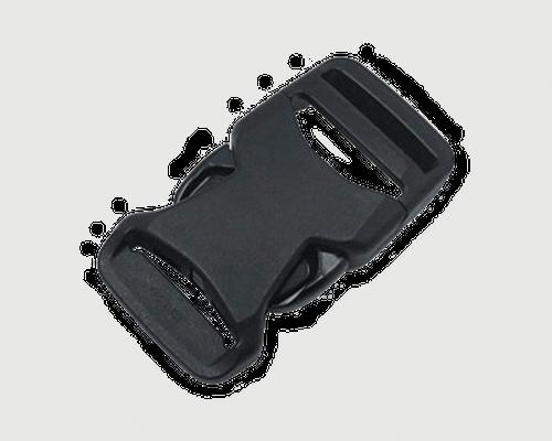 新商品 nifco プラスチックバックル 軽量薄型 片引きタイプ JSRB38A 黒 1個
