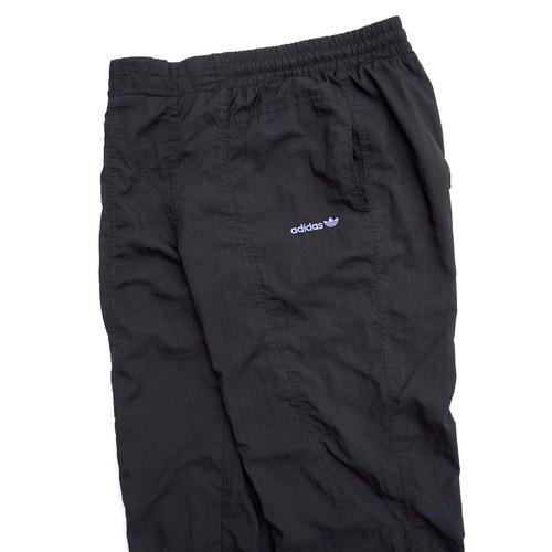 1990's [adidas] ナイロントラックパンツ トレフォイルロゴ ブラック 表記(M) アディダス