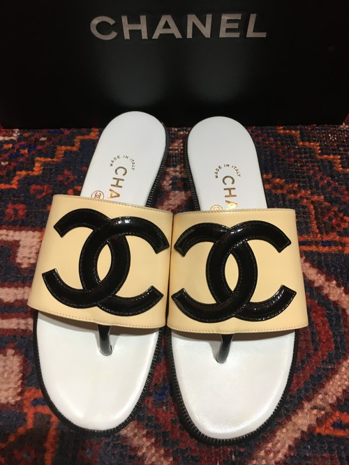 .CHANEL BIG COCO MARC LEATHER SANDALS  MADE IN ITALY/シャネルビッグココマークレザーサンダル 2000000032443