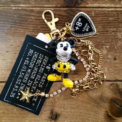 Dead Stock Mickey Mouse Bag Charm Gold