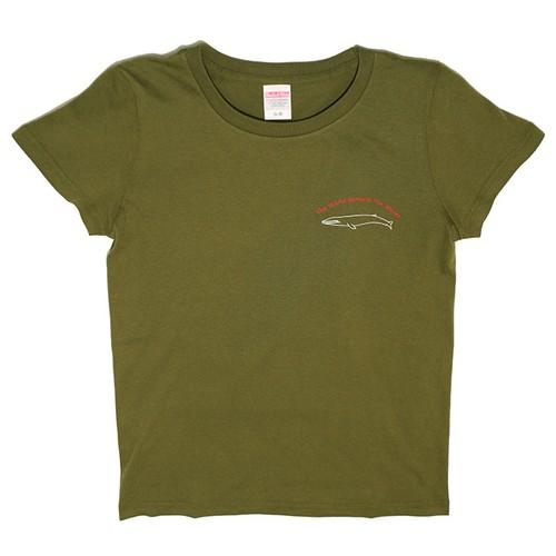 シロナガスクジラTシャツ レディース