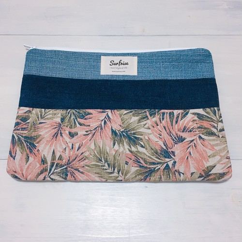 Denim clutch bag F73(Pink)