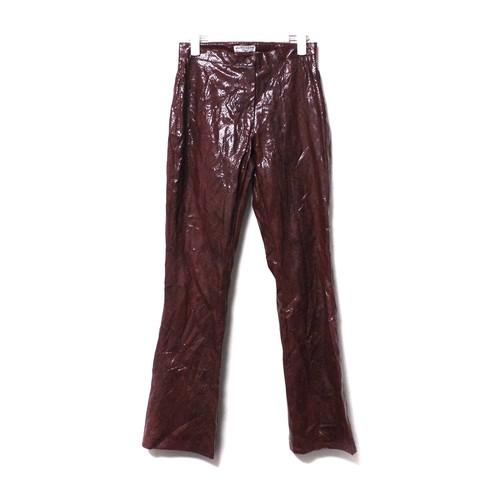 Snakeskin pants redbrown