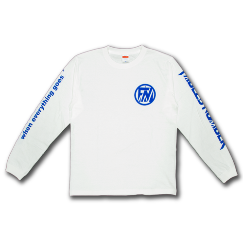 LONG SLEEVE T-shirts[白×青]