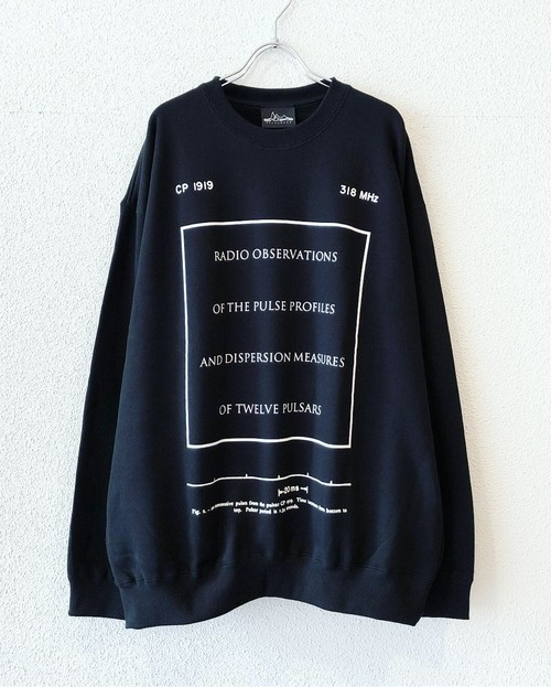 "【19001】CREW NECK BIG SWEAT (CP1919/MHz318) ""BLACK"""