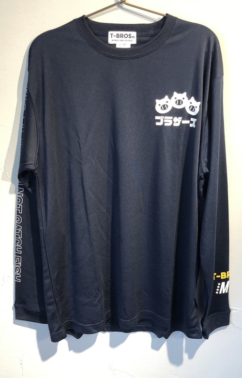 """(LS1)TONKOTSU BROs """"PIGS THAT CAN NOT CATCH FISH"""" 1st DRY L/S Tee"""