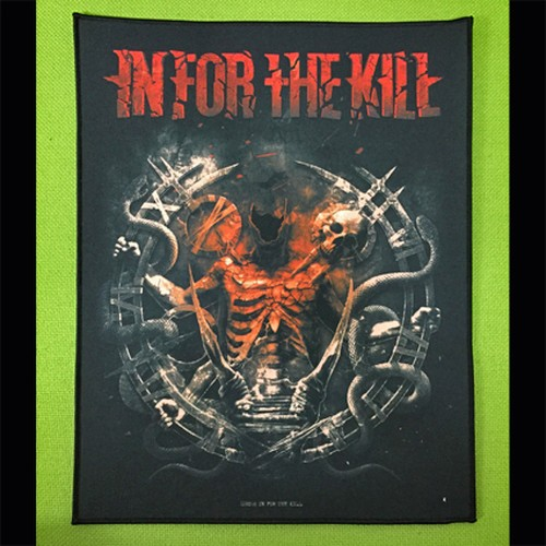 "IN FOR THE KILL ""In For The Kill"" プリント・バックパッチ"
