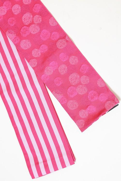 和風館半巾帯 サークルドット ピンク