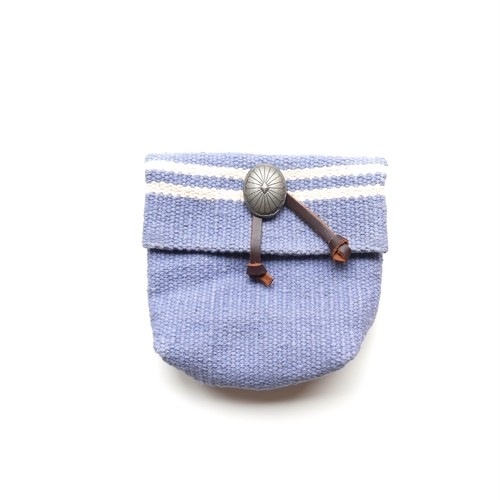 Wave Border Pouch-gray-