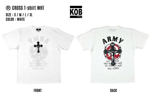 (R) CROSS T-shirt WHT