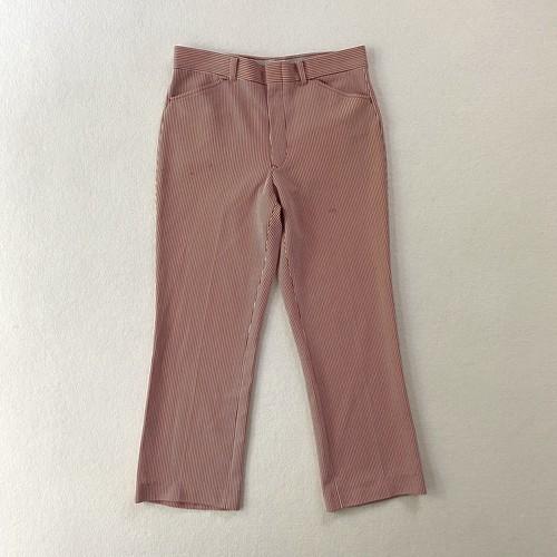 70s Sears | RED stripe slacks (V5062A)