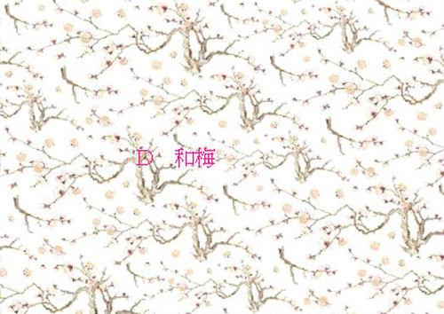 咲くらオリジナル新転写紙「蝶恋花 D和梅」