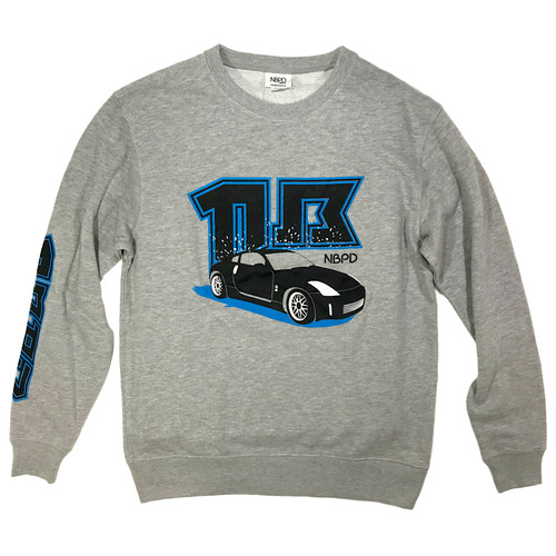 "Sweatshirts ""Sports car"" Grey"