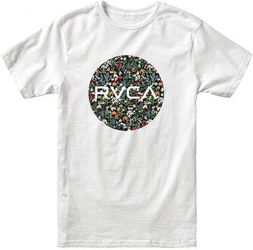 RVCA ルーカ グラフィックプリント半袖Tシャツ MOTORS SS M TEES WHT 8468000 [並行輸入]