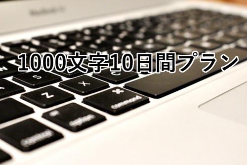 1000文字10日間プラン