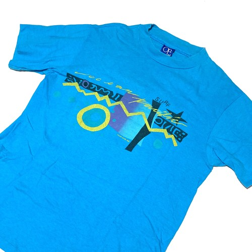 ocean pacific : 80's print tee (MADE IN USA)