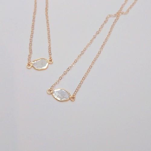 2点限定販売!スライスダイヤモンドのネックレス