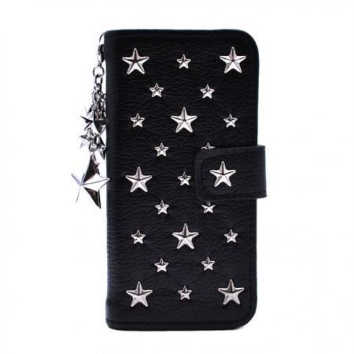 ENLA BY ENCHANTED.LA NOTEBOOKTYPE LEATHER STARS CASE FULLSTAR STAR CHARM