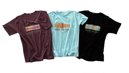 オーガニックコットンTシャツ(紫色・黒色)