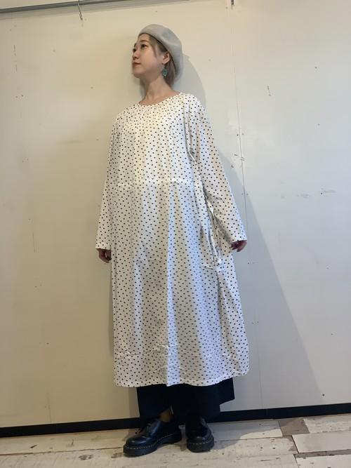 ICHI ドットギャザードレス