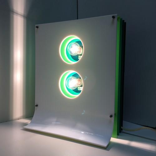 レトロなアクリルパネル照明(0119301100)