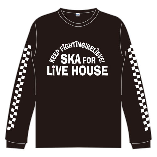 SKA FOR LIVEHOUSE  L/S Tシャツ【ブラック】