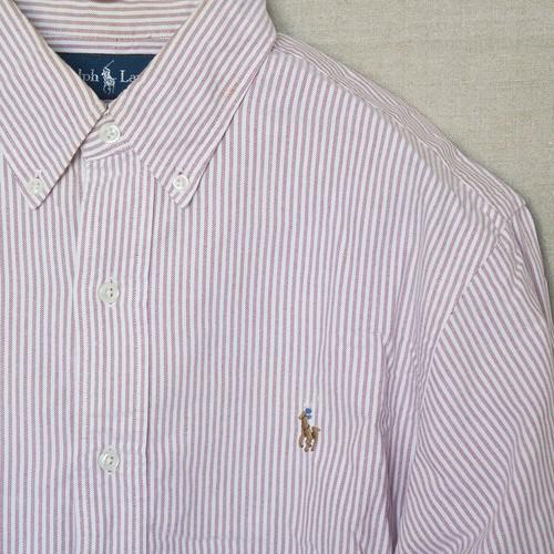 ラルフローレン BDシャツ【ピンクストライプ】M〜Lサイズ