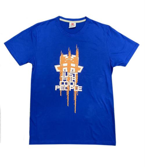 【JTB】NEW JUST LOGO Tシャツ【ブルー】イタリアンウェア【送料無料】《M&W》