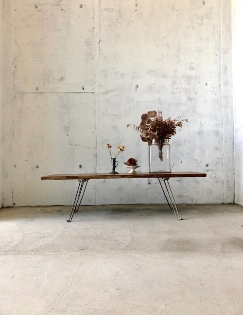 木味×サビ脚のローテーブル[古家具]