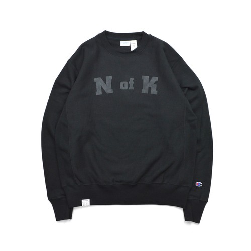 Means RW Crew Neck Sweat / BLACK